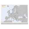 Stiefel Kaparós Európa országai térkép, 78x57 cm, STIEFEL, ezüst bevonat