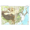 Stiefel Kína, Korea, Japán, Mongólia domborzata