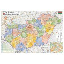 Stiefel Magyarország közigazgatása a járásokkal - járásszínezéssel térkép