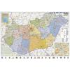 Stiefel Magyarország közigazgatása keretezett, mágneses térkép