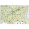 Stiefel Magyarország turisztikai térképe fémléces
