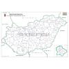 Stiefel Magyarország választási színező fémléces 2018 68x49 cm