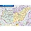 Stiefel Magyarország vasúti árufuvarozási térképe - Stiefel