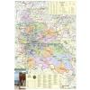 Stiefel Pest megye térképe, mágneses, keretes