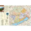 Stiefel Veszprém megye térképe, tűzhető, keretes