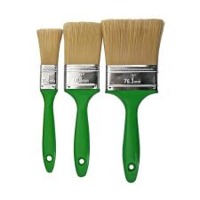 STR Ecsetkészlet PVC sörtével 3db zöld festő és tapétázó eszköz
