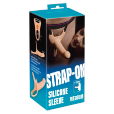 Strap-on - felcsatolható, üreges dildó (közepes) - natúr műpénisz, dildó