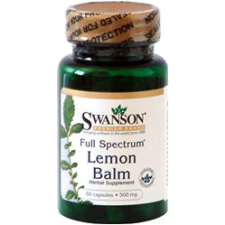 Swanson Lemon Balm -Citromfű levél kapszula 60db egészség termék