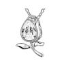 Swarovski kristályos nyaklánc tulipán medállal