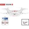 Syma X5UW-D WiFi FPV HD kamerás komplett RC quadcopter drón szett dönthető kamerával