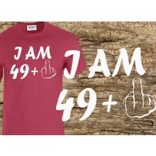 (SZ008) I AM 49+1 - születésnapi póló férfi póló