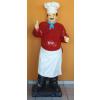 Szakács-táblával/180 cm/laminált/piros inges-bajuszos