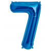 Szám formájú óriás fólia lufi, kék 8