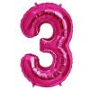 Szám formájú óriás fólia lufi, pink 3