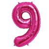 Szám formájú óriás fólia lufi, pink 9