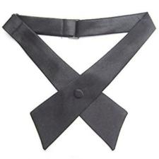 Szatén nõi kereszt nyakkendõ - Sötétszürke női ruházati kiegészítő