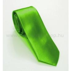 Szatén slim nyakkendõ - Almazöld
