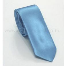 Szatén slim nyakkendõ - Világoskék