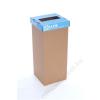 Szelektív hulladékgyűjtő, újrahasznosított, 60 l, RECOBIN Slim, kék (URE002)