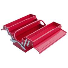 Szerszámosláda fém 40×20×20cm, 5 rekesz, festett lemez, piros, lakatolható (Szerszámosláda) szerszám kiegészítő