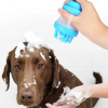 Szilikon fürdőkefe szappanadagolóval kutyák és macskák számára