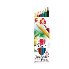 """SZÍNES ceruza készlet, vastag, ICO """"Süni"""", 6 különböző szín (TICSUCN6) színes ceruza"""