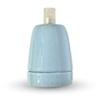 SZÍNES E27-es porcelán foglalat - kék