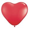 Szív alakú 40 cm-es óriás gumi lufi (Piros)