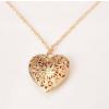 Szív alakú képtartó függő medál nyaklánccal, arany
