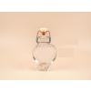 Szív alakú pálinkás csatos üveg, 4 cl-es