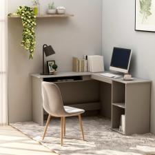 Szürke forgácslap L-alakú sarok-íróasztal 120 x 140 x 75 cm íróasztal