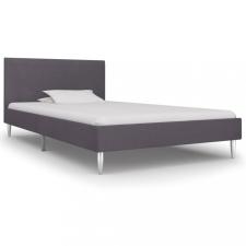 Szürke szövetkárpitozású ágykeret 90 x 200 cm ágy és ágykellék