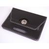 Tablettok UNIVERZÁLIS 9,0 fekete elfordítható műbőr tablet tok: Huawei, Lenovo, Samsung, iPad...