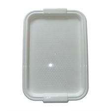 . Tálca, műanyag, lekerekített peremmel, szögletes, fehér, 45x30cm konyhai eszköz