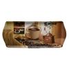 . Tálca, szögletes, műanyag, kávéház mintás, 33x14,5 cm