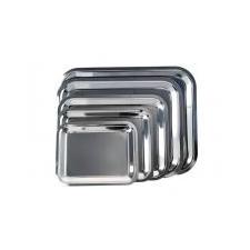 . Tálca, szögletes, rozsdamentes acél, krómozott, 45x35,5cm konyhai eszköz