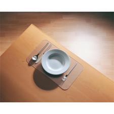 Tányéralátét, polikarbonát, E forma, 41x27 cm, 4 db, RS OFFICE konyhai eszköz