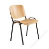 . Tárgyalószék, fa ülőlappal, fekete lábbal, 1120 LN (BBSZV171)