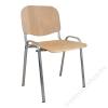 . Tárgyalószék, fa ülőlappal, krómozott lábbal, 1120 LC (BBSZV170)