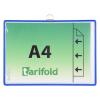 TARIFOLD Bemutatótábla, függõ, A4, fekvõ, fém fülecskével, TARIFOLD, kék
