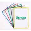 TARIFOLD Bemutatótábla, függő, A4, álló, fém fülecskével, TARIFOLD, piros
