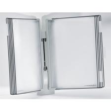 """TARIFOLD Bemutatótábla tartó, fali, 10 db bemutatótáblával, TARIFOLD """"Design"""", szürke információs tábla, állvány"""