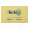 TARTAN Öntapadó jegyzettömb, 127x76 mm, 100 lap, 12 tömb/cs, TARTAN, sárga (LPT12776)