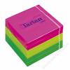 TARTAN Öntapadó jegyzettömb, 76x76 mm, 100 lap, 6 tömb/cs, TARTAN, vegyes (LPT7676N)