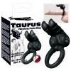 Taurus - duplamotoros péniszgyűrű (fekete)