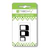 Techly SIM kártya adapter, SIM, nano-SIM, Micro-SIM