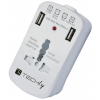 Techly Universal Travel Adapter 2A for Electrical Sockets with 2 USB