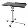 Techly univerzális projektor/notebook mobil állvány; 2 állítható polc; fekete