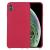 Telealk Iphone XR szilikon tok, mikroszálas szövet belső résszel, piros