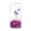 TelForceOne Samsung Galaxy A5 (2017) A520 Liquid Glitter Butterfly hátlap, tok, lila